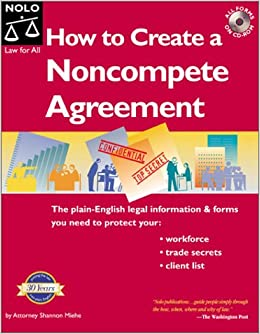 How To Create A Noncompete Agreement Shannon Miehe 9780873377140