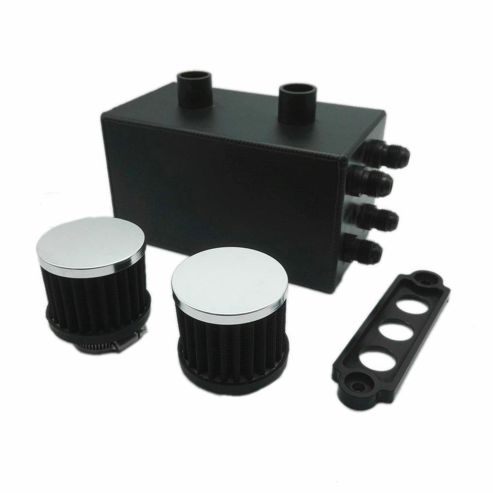 Heinmo Oil Catch Can Kit Breather Tank 4 Port Series for Honda Civic Integra EK EG DC by Heinmo (Image #4)