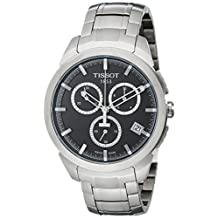 Tissot Men's T0694174406100 Quartz Titanium Dial Chronograph Grey Dial Watch