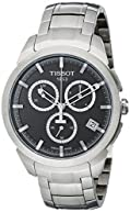 Tissot Men's T0694174406100 Quartz Titanium Grey Dial Chronograph Watch
