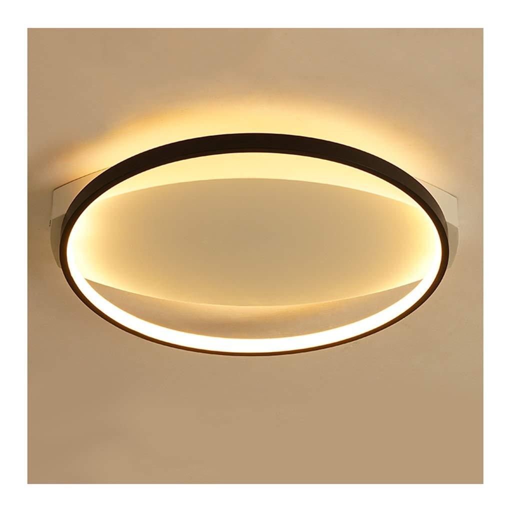 天井照明 シーリングライト、モダンでシンプルなブラックシーリングランプ、調光対応アイアンアートアクリル、リビングルームの装飾研究寝室ホテルオフィス照明 シーリングライト (Color : Warm light, Size : 32cm/18w) 32cm/18w Warm light B07T7VHZHW