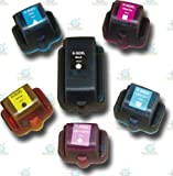 6 Chipped Compatible HP363 Ink Cartridges C8721EE C8771EE C8772EE C8773EE C8774EE C8775EE for 8200