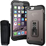 Armor-X Rugged Case For Iphone 6 Integrated X-Mount System. Metal Spray & Kick-Stand Gun Metal
