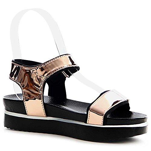 topschuhe24 - Sandalias de vestir para mujer Rose Gold