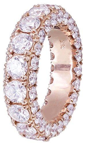 18k rose gold round cut diamonds band art deco modern eternity style (Style Diamond Eternity Band)