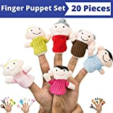 Finger Puppet Set (20-Piece), 6 Family Member Finger Puppets,14 Animal Finger Puppets - Great for Storytelling, Role-playing, Teaching, Easter Eggs and Fun - by Better Line
