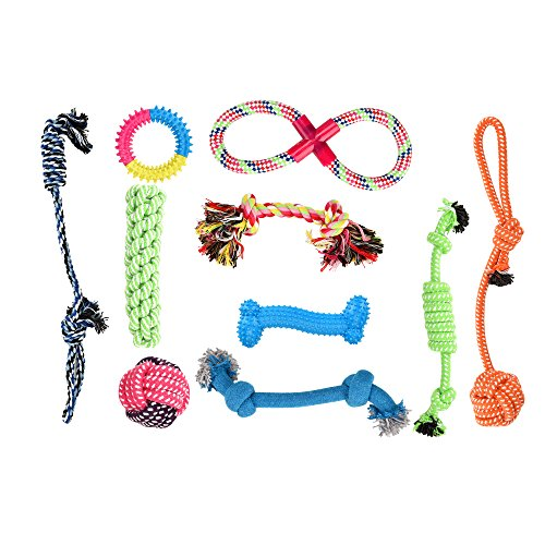 Dog Chew Toys Ropes Toys for Small Medium Dogs Value 10 Pack Gift Set Pet Supplies Aggressive and Comfortable Safety Material (Rope toys, Dog Toys Bone, Dog Toys Donuts) Christmas Gifts Online Nz