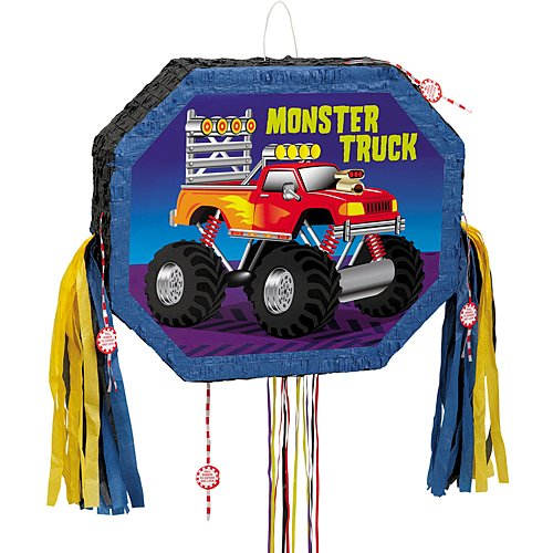 Buy unique monster truck pinata, pull string