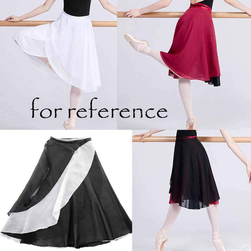 Panda Legends Women Ballet Skirt Skate Over Scarf Tutu Skirts Chiffon Dance Wrap Skirt with Waist Tie Dark Purple 38cm