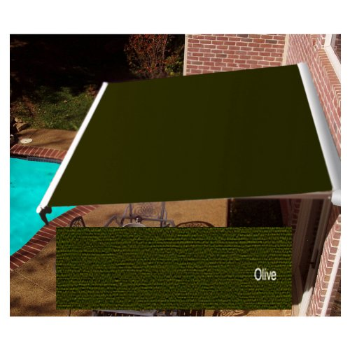 Awntech Beauty-Mark Destin LX, 14' Right Motorized Retractable Awning, Olive