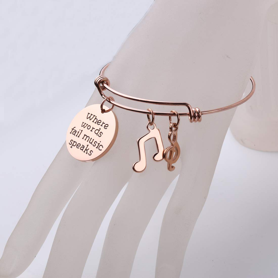 REEBOOO Music Jewelry Music Bracelet Music Teacher Charm Bracelet Music Teacher Bracelet
