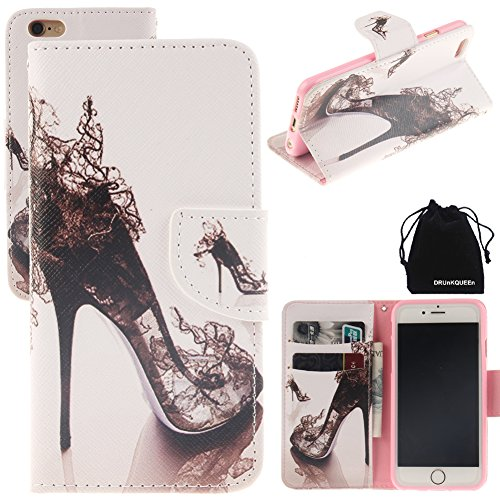 "iPhone 6 Plus & iPhone 6S Plus Case, DRUnKQUEEn Leather Wallet Case Back Cell Phone Shell Skin Magnetic Flap Cover with Credit Card Holder for iPhone 6PLUS (5.5"") / iPhone 6sPLUS (5.5"")"