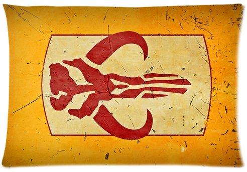 Kenneth case Star Wars Boba Fett Pillowcases Cushion Case 18X18 Inch(One Side)