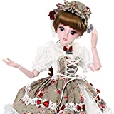 Funnybuy Girl Gift Doll 1/3 Dolls 23.6 inch 19 Joint Ball Jointed Dolls Full Set