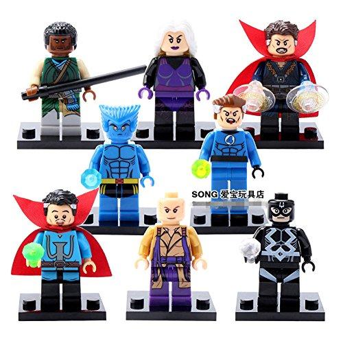 L 8pcs Doctor Strange Baron Clea Ancient One Wolverine Hank Minifigures Toys Gifts (Marvel Classic Hulk Costume Kit)