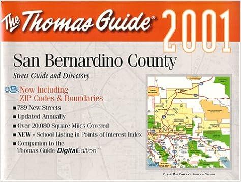 Thomas Guide 2001 San Bernardino County Thomas Guides Maps