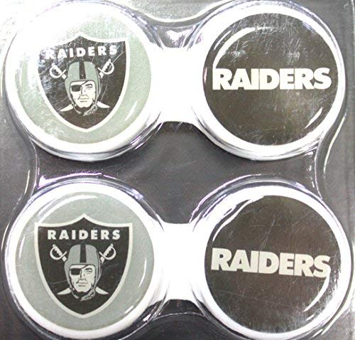 Oakland Raiders 2 Pack Contact Lens Case (Best Contact Lenses For Sports)
