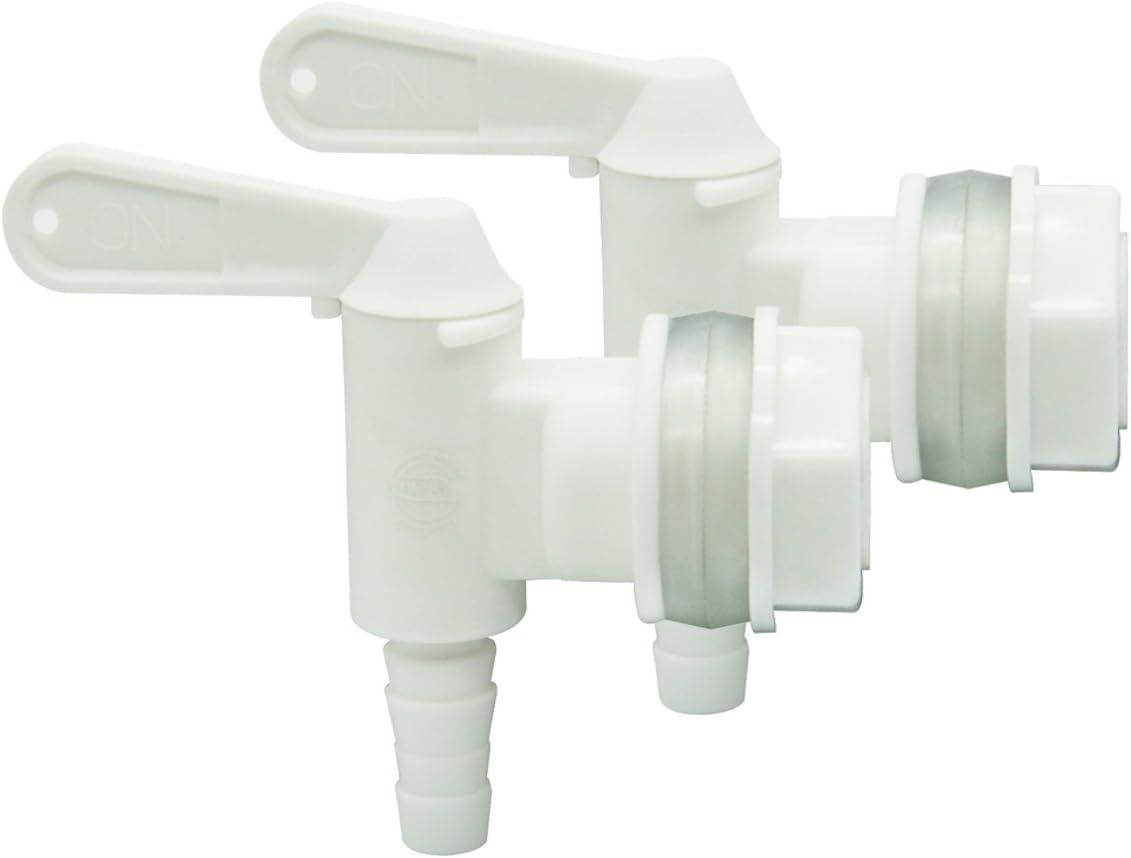 2 PACK Bottling Bucket Plastic Spigot, Replacement Spigot for Beer or Soda Homebrewing