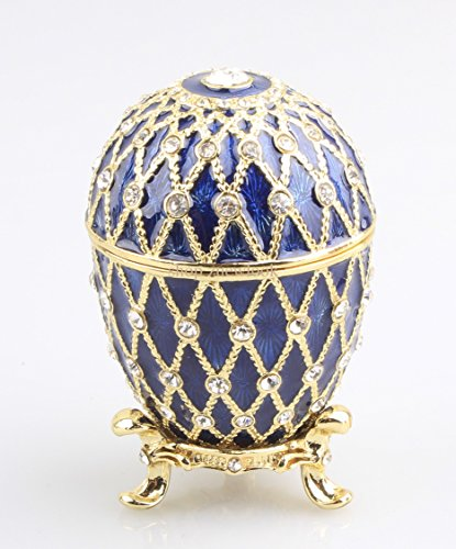 znewlook Shiny Crystal Studded Egg Shaped Trinket Box for sale  Delivered anywhere in USA