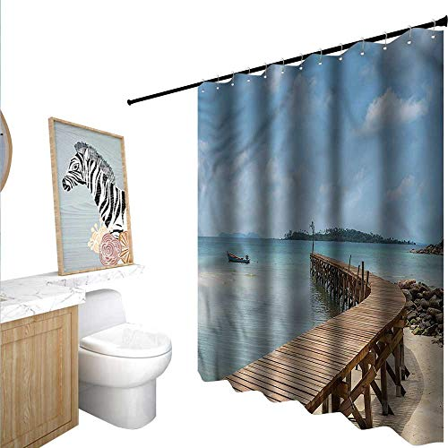 BlountDecor Landscape Shower Curtains with Shower Hooks for sale  Delivered anywhere in USA