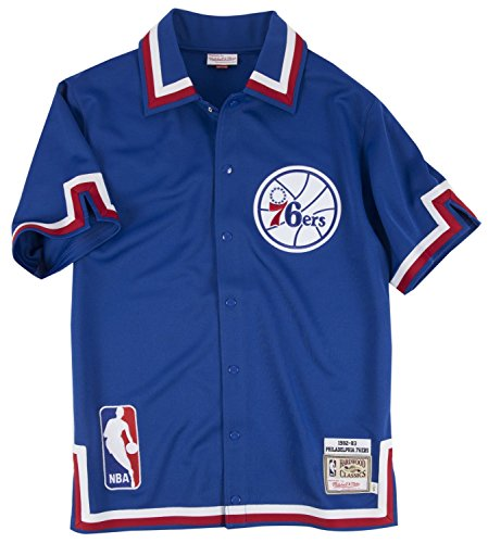 Philadelphia 76ers Mitchell & Ness NBA 1982-83 Authentic Shooting Shirt (Nba Shooting Shirt)