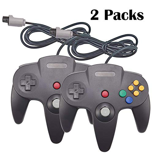YB-OSANA 2 Packs Replacement Upgraded Joystick Classic Wired Controllers for Nintendo 64 N64 64-bit Gamepad Joystick for Ultra 64 Video Game Console N64 System Mario Kart