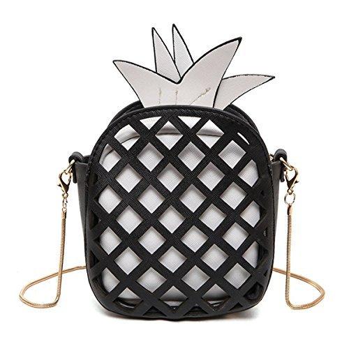 MILATA Fruit Pineapple Shaped Women Pu Leather Clutch Purse Cross Body Bag (Shaped Handbag Purse)
