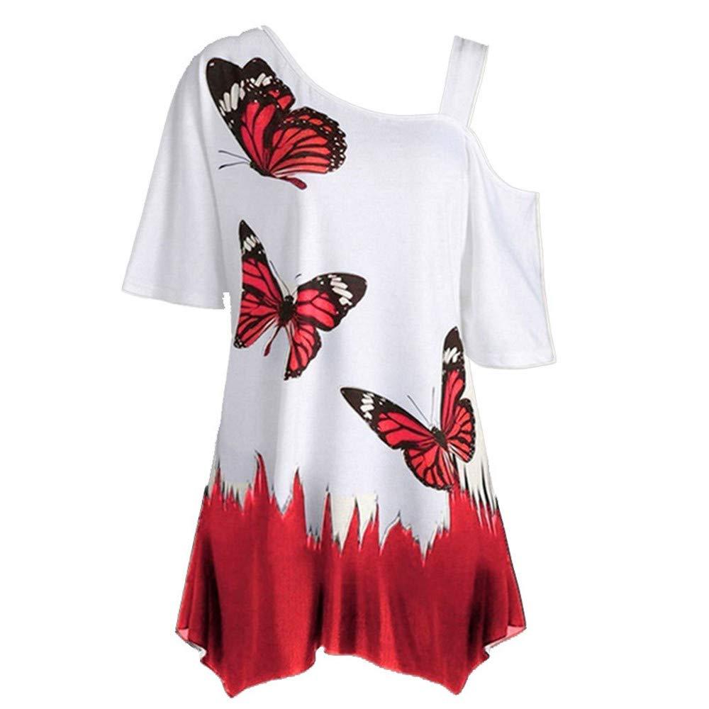 Boutique sale Mujeres con Hombros Descubiertos Camiseta De Gran ...