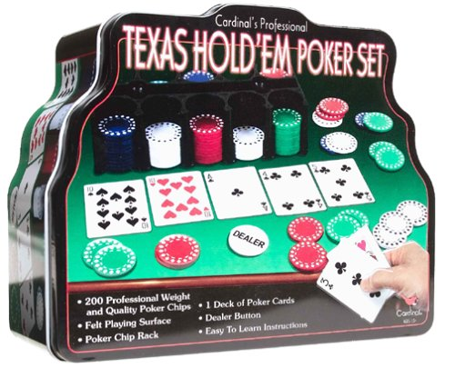 Cardinal Industries Deluxe Texas Hold Em Set in Tin