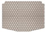 Intro-Tech Hexomat Cargo Area Custom Floor Mat for Select Hyundai XG 300/350 Models - Rubber-like Compound (Tan)
