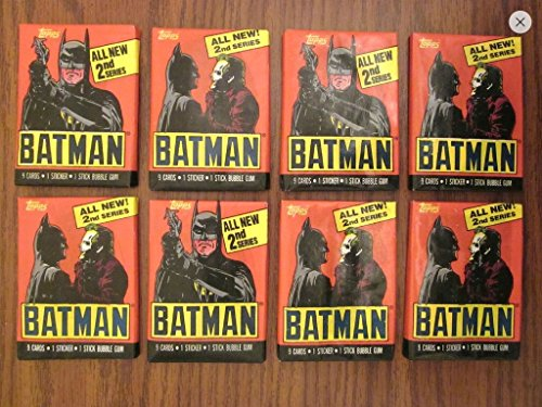 Batman Trading Cards (4) Unopened Wax Pack Lot Trading Cards and Stickers 1989 Topps 2nd Series Non-sport from Topps