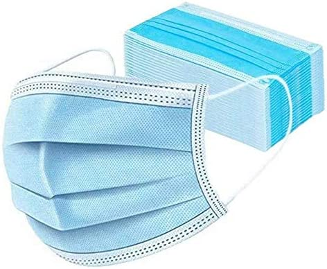 DAYHAO-maskers, 3-laags oorlus, wegwerp gezichtsmasker Veiligheidsmasker Stof voor medische tandheelkundige salon en persoonlijke gezondheid (50 stuks)  Snelle levering
