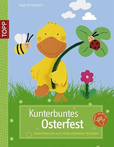 Kunterbuntes Osterfest: Fensterbilder aus verschiedenen Papieren