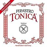 Pirastro Tonica/Gold Label 4/4 Violin String Set - Medium Gauge with Tonica A, D,G & Gold Label E Ball End