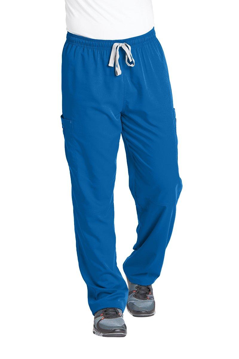 Grey's Anatomy Men's Modern Fit Cargo Scrub Pant, New Royal, Small/Tall
