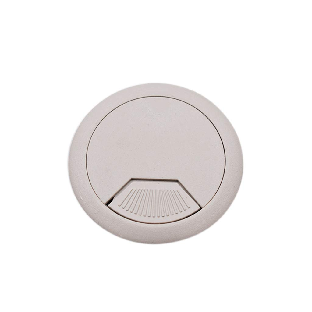 Fliyeong 50mm Desk Wire Hole Cover Plastic Table Grommet Circle Cover Cap Outlet Wire Hole for Cable Cord Management 5 Pcs Stylish and Popular