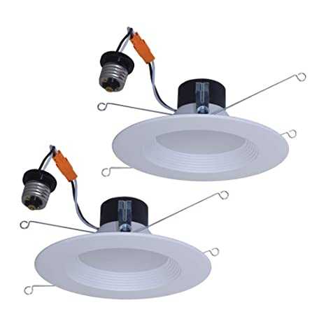7e0421464f7 Utilitech 2-Pack 65-Watt Equivalent White Dimmable LED Recessed ...