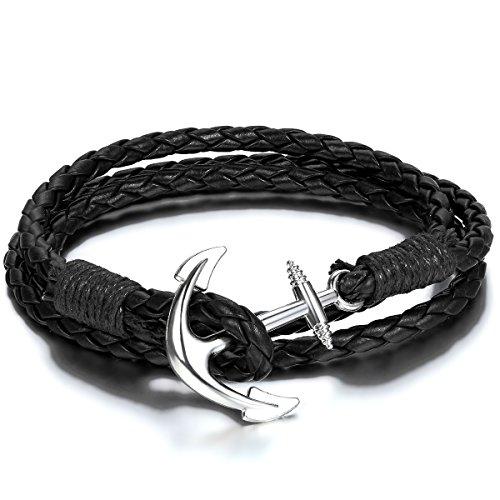 jewelrywe schmuck herren damen armband geflochten infinity unendlichkeits zeichen armreif. Black Bedroom Furniture Sets. Home Design Ideas