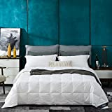 How Many Feet Is a California King Bed Globon White Goose Down Comforter/Blanket King Lightweight Summer, Real Silent&Soft Down-Proof Shell, 400 Thread Count Hypoallergenic, 18OZ, 700 Fill Power, with Ties, Solid White.