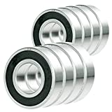 4x 6015-2RS Ball Bearing 75mm x 115mm x 20mm Rubber Seal Premium RS 2RS NEW