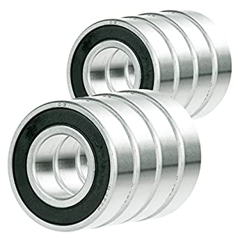 10x 6204-2RS Ball Bearing 3//4 inch x 47mm x 14mm Rubber Sealed Premium RS 2RS