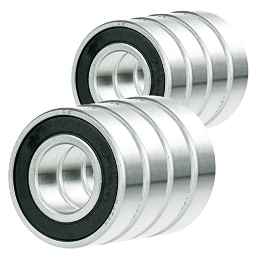 6804-2RS Ball Bearing 20mm x 32mm x 7mm Rubber Seal Premium RS  Shielded 10x