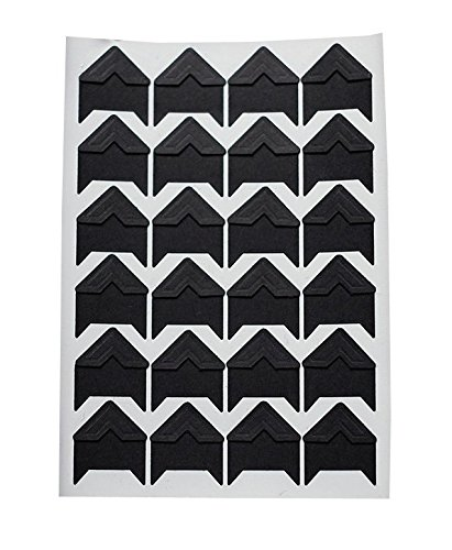 120pcs Self Adhesive Paper Photo Foto Corner Stickers For Scrapbooking, Personal Journal & Diary Adhesives (Black) ()