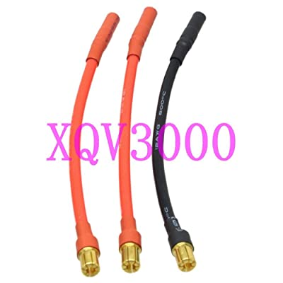 Cenos 3pc/Set ESC 6.5MM Male to 4MM Female Bullet Plug Motor Brushless Castle Mambo: Toys & Games
