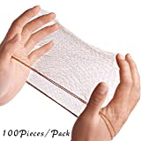"Smilco Hair Nets Invisible Elastic Edge Mesh 20"" 50cm (100pcs Bulk Packing, Brown)"
