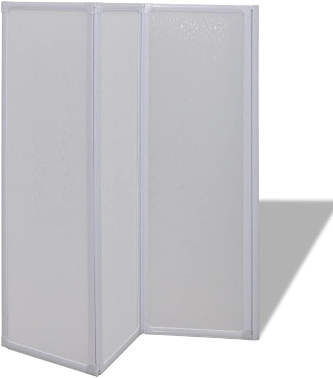 SOULONG Mampara de Ducha con 3 Paneles Plegables, Fácil de Instalar en Cualquier dirección,141 x 130 cm: Amazon.es: Hogar
