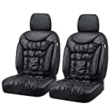 Big Ant Seat Covers, Unique Comfortable Leatherette Car Seat Covers with 2 Detachable Headrests - Fit Most Car, Truck, SUV, or Van (2pcs - Black)