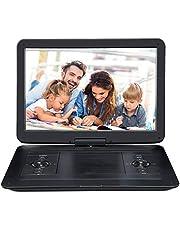 Pumpkin lettore dvd portatile grande schermo da 16 pollici per bambini,bosra dotata, autonomia da 5 ore,supporta HDMI/ USB/ TF/ AV IN/ OUT/ region free