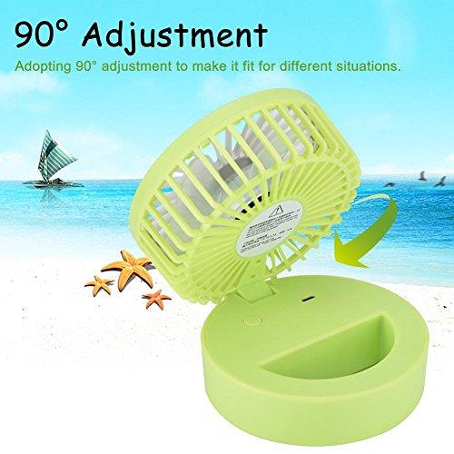 fosa Mini USB Desk Cooling Fan, Lemon Style Air Circulator Fan 3-level Adjustment Powerful Wind USB Desktop Fan for Home Office School(Green) by fosa (Image #6)