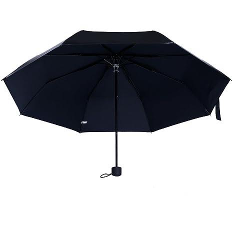 Paraguas Plegables de Viaje,LuolLove Paraguas Compacto y Resistente Antiviento al Viento Protección a Prueba